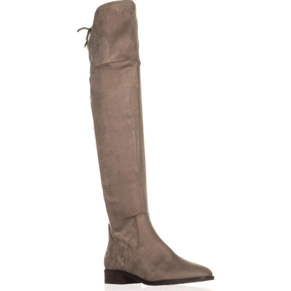 1130428c858 Ivanka Trump Larell Dark Grey Over The Knee Boots